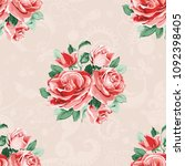 seamless floral pattern with... | Shutterstock .eps vector #1092398405