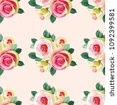 seamless floral pattern with... | Shutterstock .eps vector #1092399581