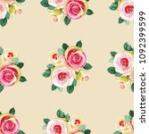 seamless floral pattern with... | Shutterstock .eps vector #1092399599