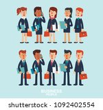 young businessmen and business... | Shutterstock .eps vector #1092402554