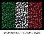 italian national flag flat... | Shutterstock .eps vector #1092404501