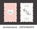 wedding invitation card... | Shutterstock .eps vector #1092406055