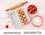 flat lay raw ingredients for... | Shutterstock . vector #1092409724
