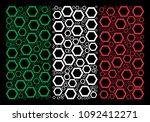 italian flag flat collage... | Shutterstock .eps vector #1092412271