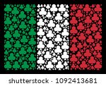 italian national flag flat... | Shutterstock .eps vector #1092413681