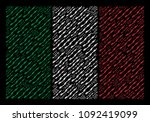 italian national flag flat... | Shutterstock .eps vector #1092419099