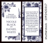 invitation with floral... | Shutterstock . vector #1092420317