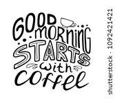 monochrome hand drawn lettering ... | Shutterstock .eps vector #1092421421