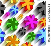 vivid colorful repeating...   Shutterstock .eps vector #1092422261