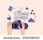 social media design | Shutterstock .eps vector #1092430919