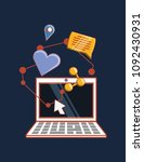 social media design | Shutterstock .eps vector #1092430931