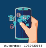 social media design | Shutterstock .eps vector #1092430955
