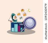 social media design | Shutterstock .eps vector #1092430979