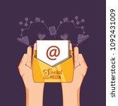 social media design | Shutterstock .eps vector #1092431009