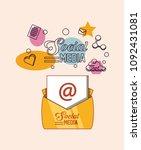 social media design | Shutterstock .eps vector #1092431081