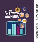 social media design | Shutterstock .eps vector #1092431105