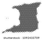 abstract trinidad island map.... | Shutterstock .eps vector #1092433709