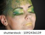 beautiful make up of a young...   Shutterstock . vector #1092436139