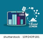 social media design | Shutterstock .eps vector #1092439181