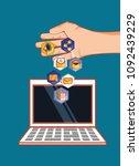 social media design | Shutterstock .eps vector #1092439229