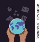 social media design | Shutterstock .eps vector #1092439235