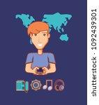 social media design | Shutterstock .eps vector #1092439301