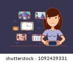 social media design | Shutterstock .eps vector #1092439331