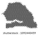 abstract senegal map. vector... | Shutterstock .eps vector #1092440459