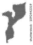 abstract mozambique map. vector ... | Shutterstock .eps vector #1092442319
