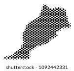 abstract morocco map. vector... | Shutterstock .eps vector #1092442331