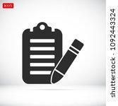 checklist icon  stock vector... | Shutterstock .eps vector #1092443324
