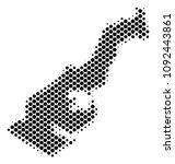 abstract monaco map. vector... | Shutterstock .eps vector #1092443861