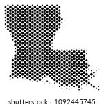 abstract louisiana state map.... | Shutterstock .eps vector #1092445745
