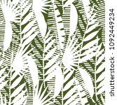 seamless pattern of tropical...   Shutterstock .eps vector #1092449234