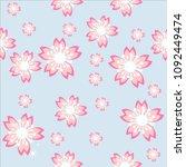pattern floral background  | Shutterstock .eps vector #1092449474