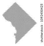 schematic washington dc map.... | Shutterstock .eps vector #1092450425