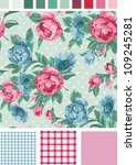vintage seamless floral peony... | Shutterstock .eps vector #109245281