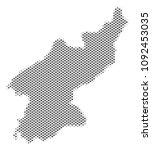 schematic north korea map.... | Shutterstock .eps vector #1092453035