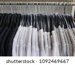set of different striped... | Shutterstock . vector #1092469667
