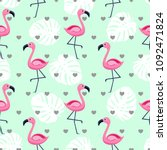 vector seamless pattern with... | Shutterstock .eps vector #1092471824