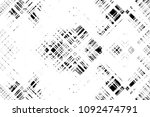 black and white grunge pattern... | Shutterstock . vector #1092474791