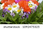 bouquet of flowers isolated on... | Shutterstock . vector #1092475325
