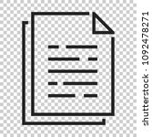 document paper icon in flat... | Shutterstock .eps vector #1092478271