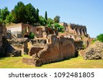 ancient roman ruins at the... | Shutterstock . vector #1092481805