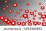 message icons. social media... | Shutterstock .eps vector #1092485891