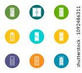 doorway icons set. flat set of...   Shutterstock .eps vector #1092486311