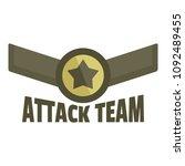 attack team icon logo. flat...   Shutterstock .eps vector #1092489455
