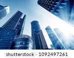 modern skyscrapers of the... | Shutterstock . vector #1092497261