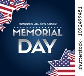 happy memorial day papper banner | Shutterstock .eps vector #1092499451