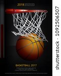 basketball poster advertising... | Shutterstock .eps vector #1092506507